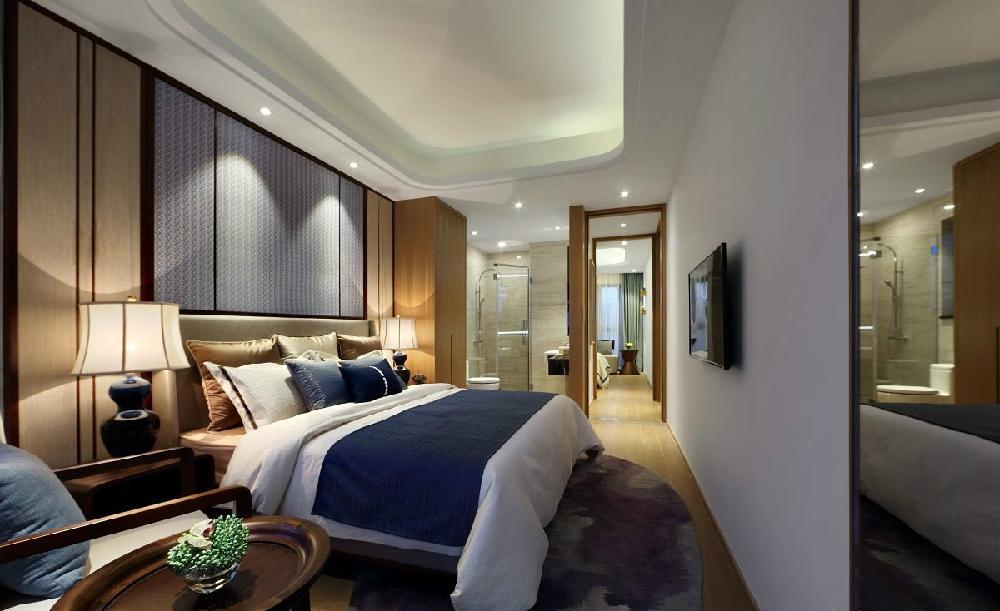 简化的中式家具普兰米灰诠释着现代中式空间10701445