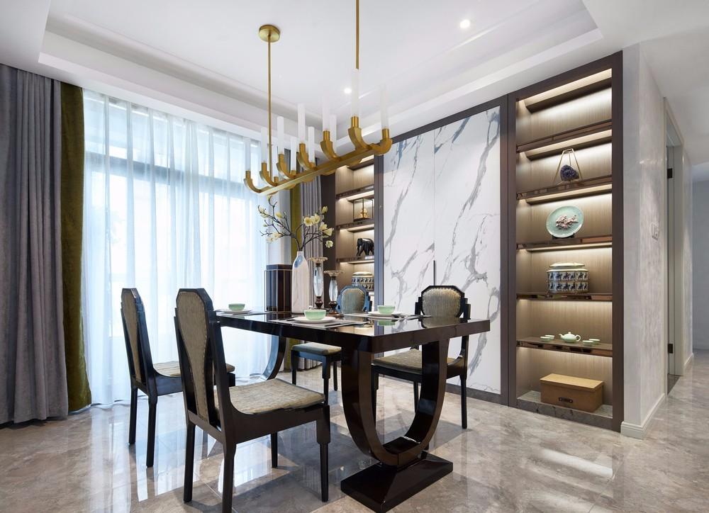 120平方三居室,淡雅新中式风格10853864