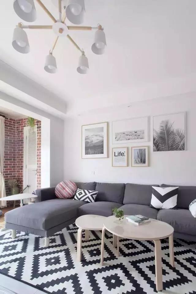 北欧风格三居室走廊柜阳台都太美太实用了10878167