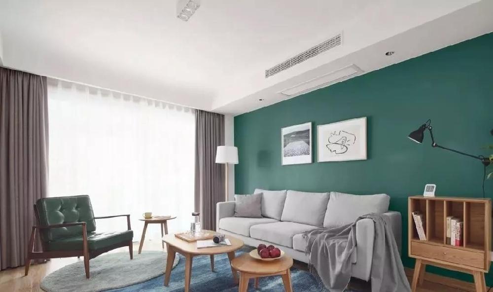 现代简约新房,定制电视墙收纳柜清新背景墙10878583