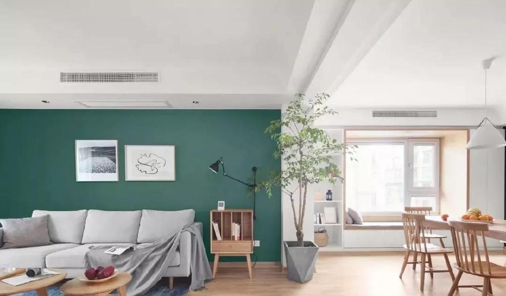 现代简约新房,定制电视墙收纳柜清新背景墙10878582