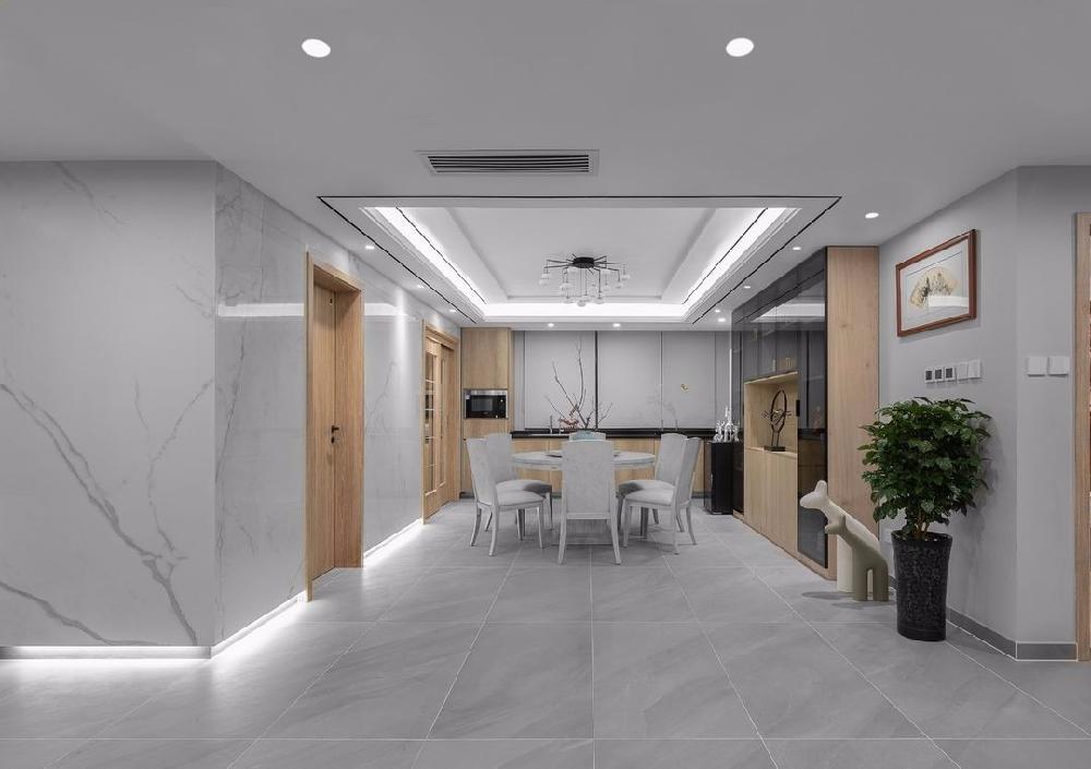 180㎡四居家装,中式融入现代简约10948014