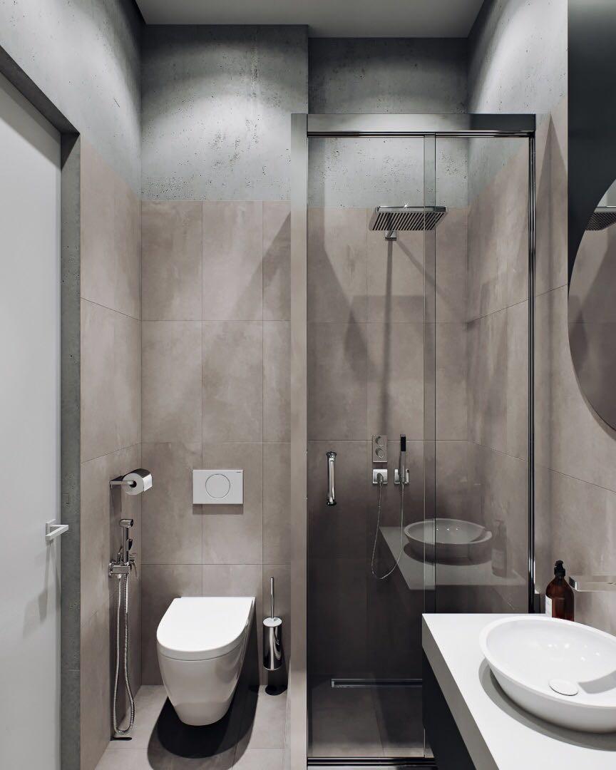 67平米一居室黑白灰色调现代公寓10997249