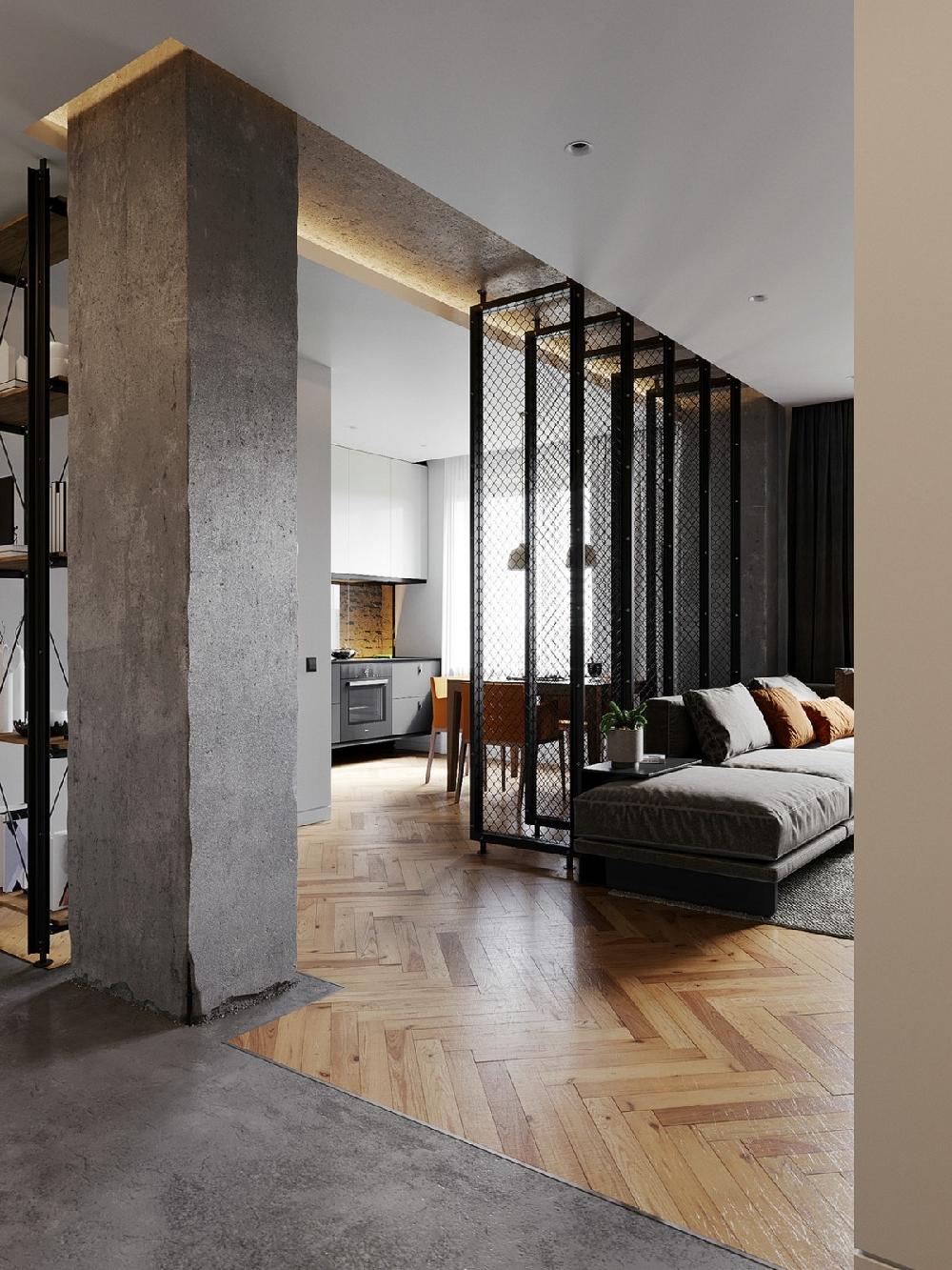 98平米 一居室  现代工业风10999405