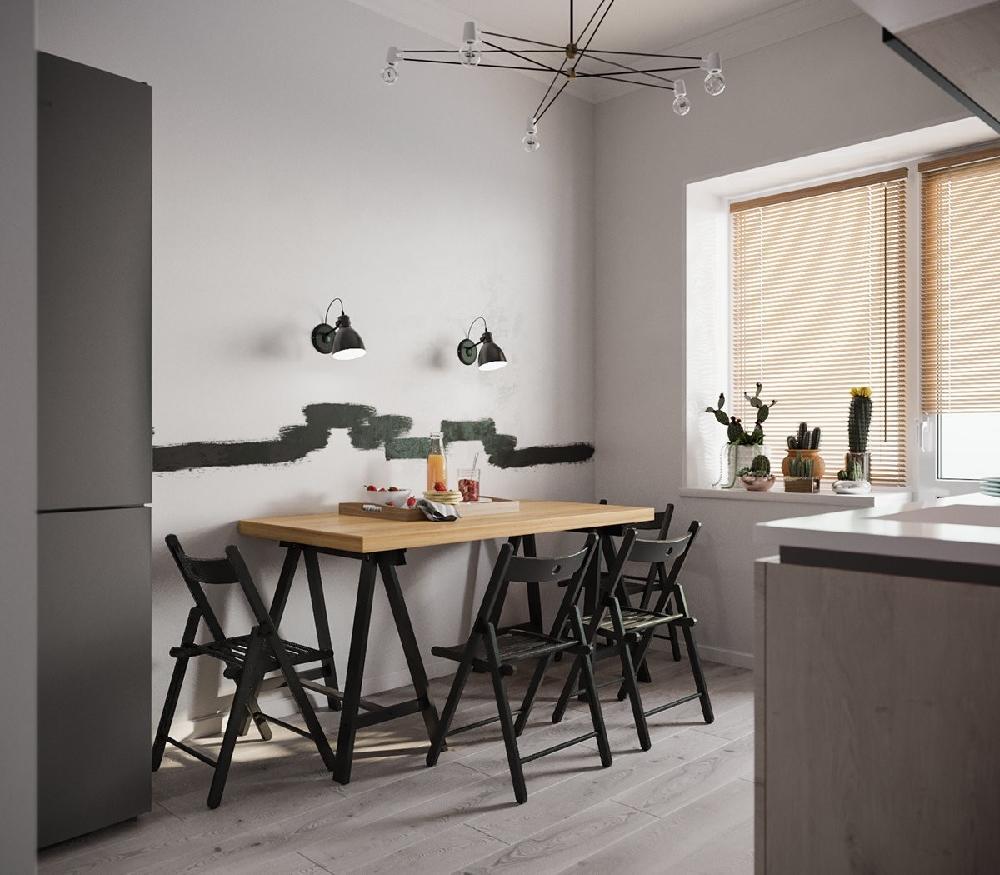 70平一室两厅一厨一卫北欧风小户型大空间11015291