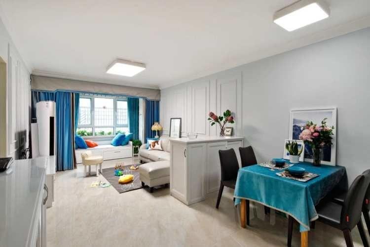 两居室现代风格 那一抹蓝11041090
