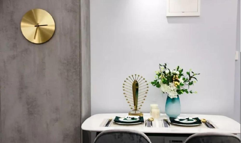 现代轻奢小公寓,灰色厨房最具质感!11208602