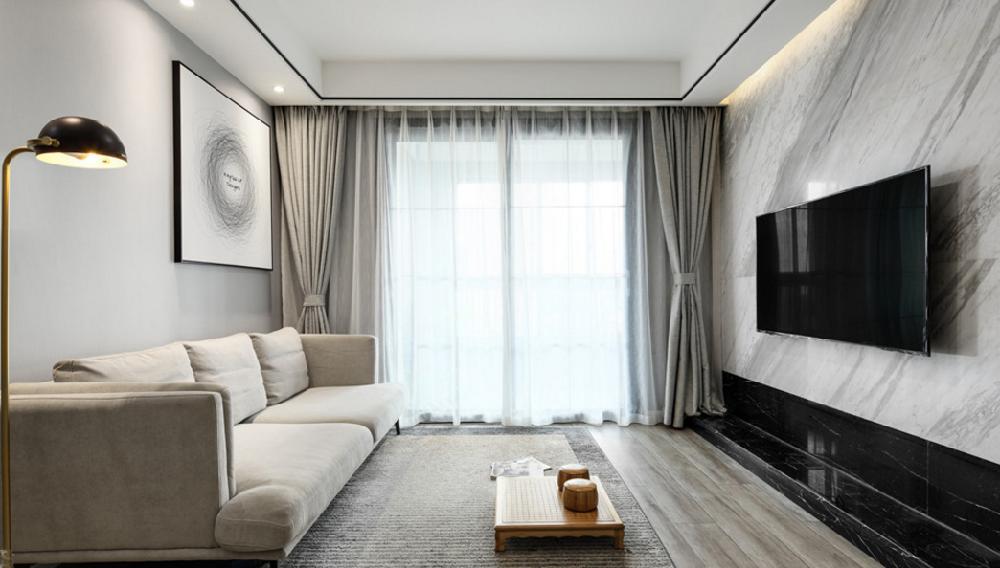 80平 两居室 现代简约风格11211737