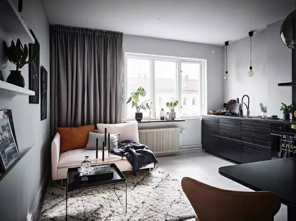 北歐風格一居室,小戶型純凈放松的家11230457