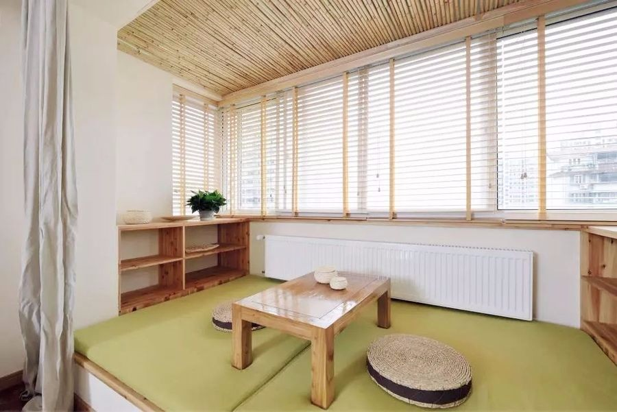 86㎡日式 | 禅意的原木色温馨阳台书房11265170