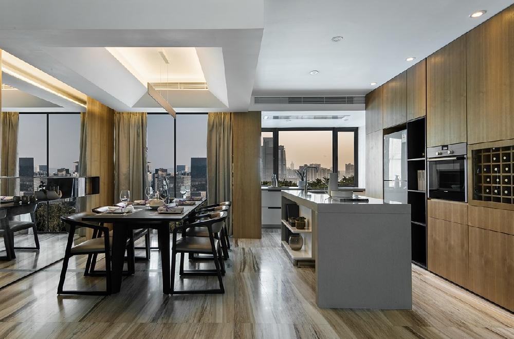 新中式风格的家具多以深色为主11272195