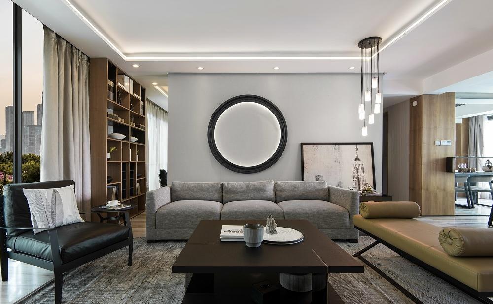 新中式风格的家具多以深色为主11272194