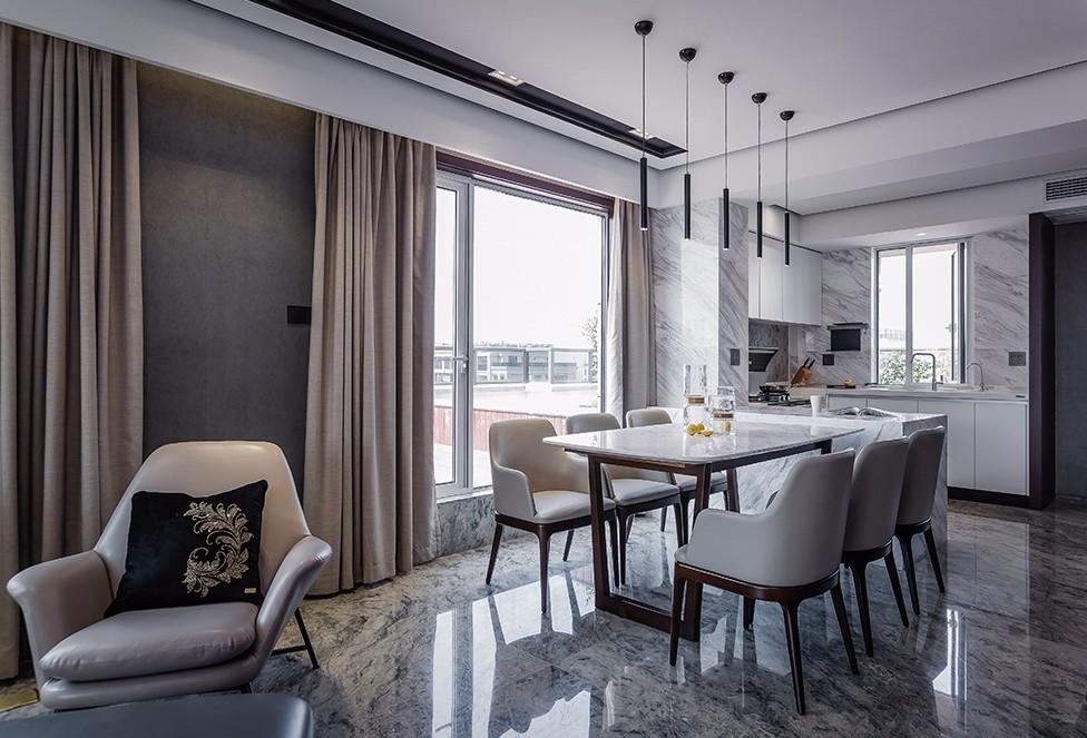 142㎡现代风,时尚简约的顶楼住宅11397561