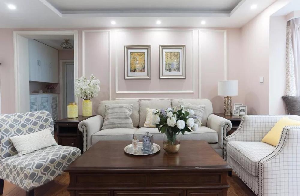 110㎡两居室,玄关鞋柜,客厅墙柜11429477