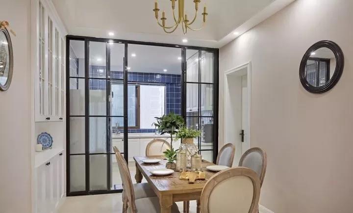 卡座餐廳+飄窗臥室,美式三居室美到沒朋友11457541