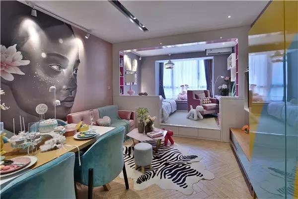 50平方现代风格,长条形的单身公寓11478582