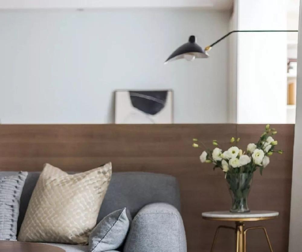 溫馨簡約現代風格,客廳雙人工作臺巧變隔斷11517051