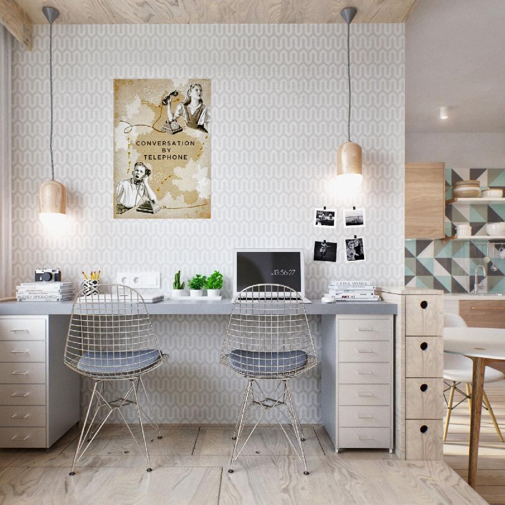 62平米现代风格简约设计的家 单身公寓11631863