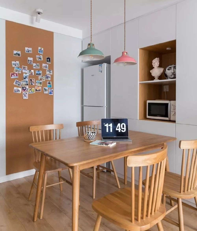60平两居室,莫兰迪色清新北欧小居11931344