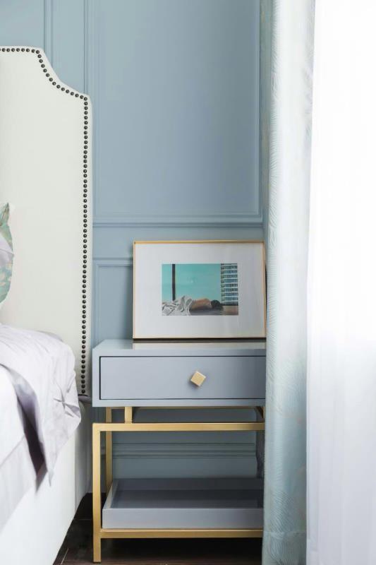 129m²三室两厅,蓝色主色调唯美轻奢风11935359