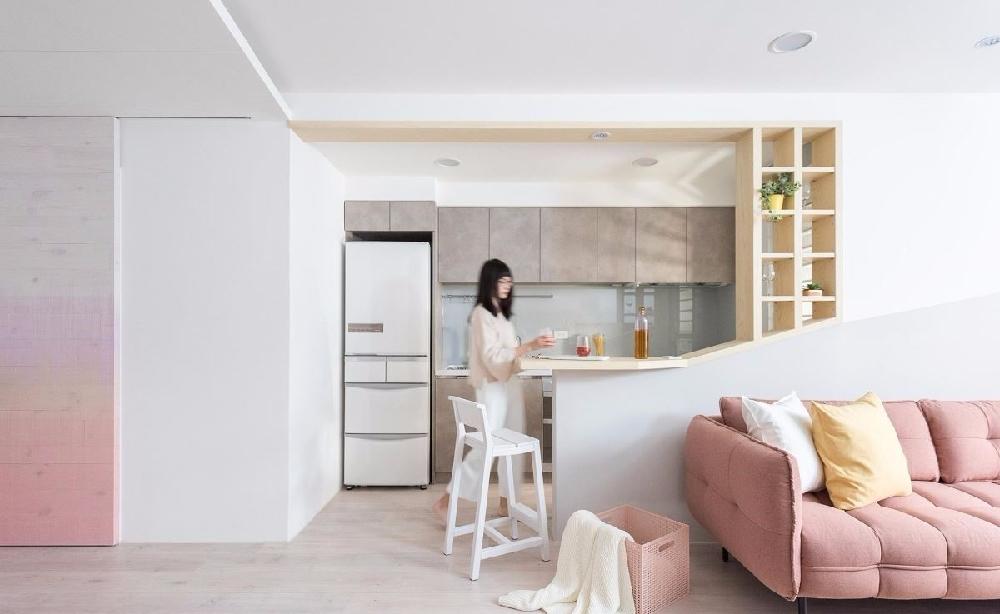 80m²,房子画上粉嫩马卡龙妆12003252