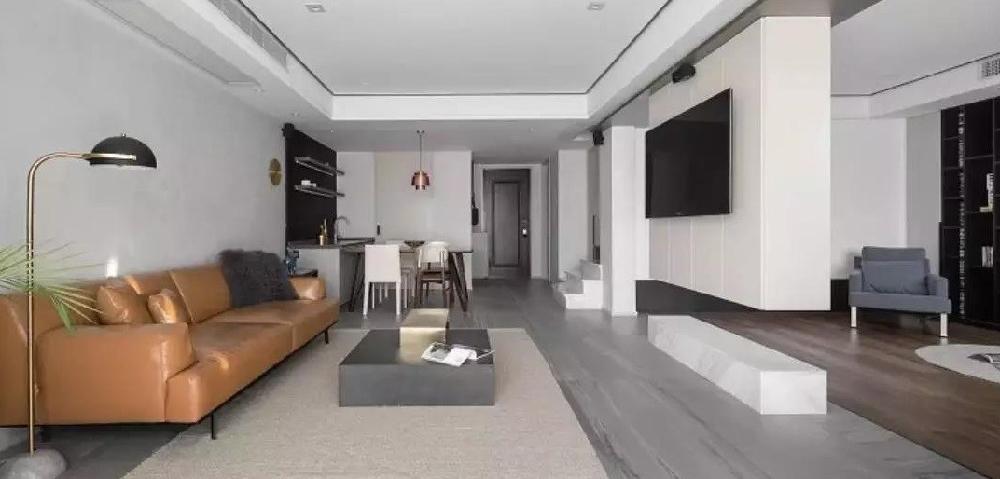 200平米简约风格喜欢电视背景墙12040602