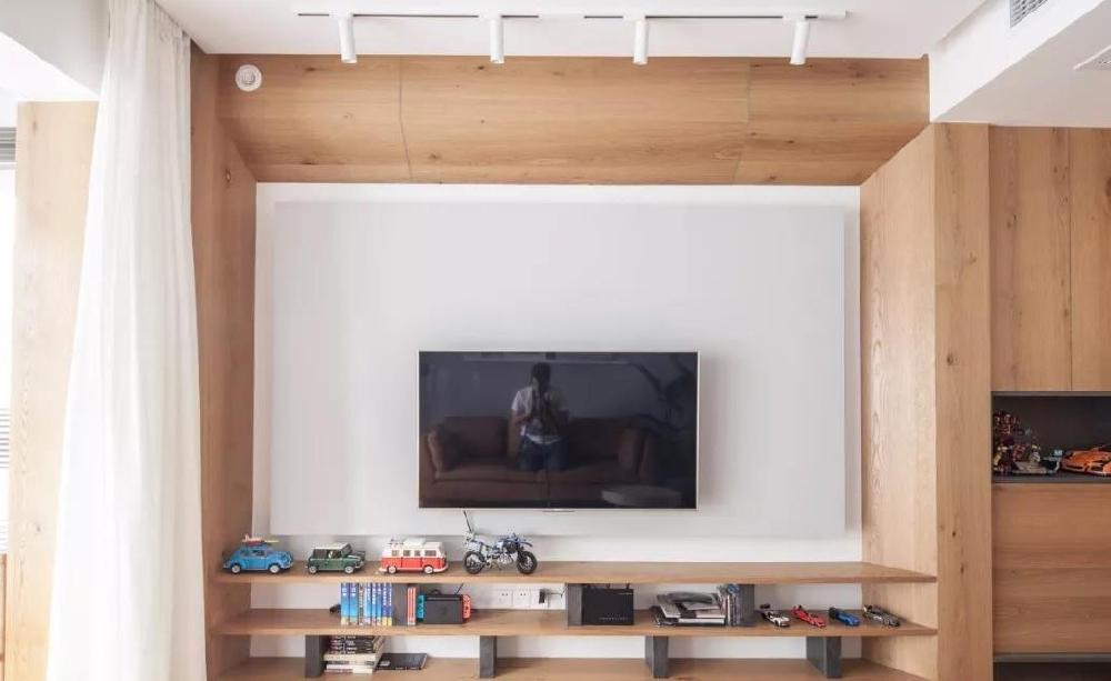88㎡現代,鞋柜+電視墻組合,實用大氣12085239
