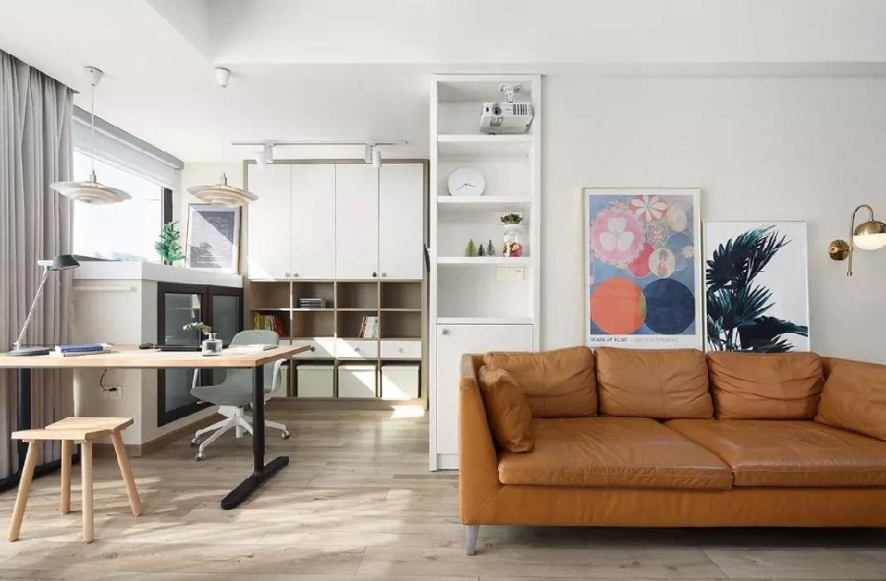 102㎡舒适北欧电视背景墙还能这样设计!12115408