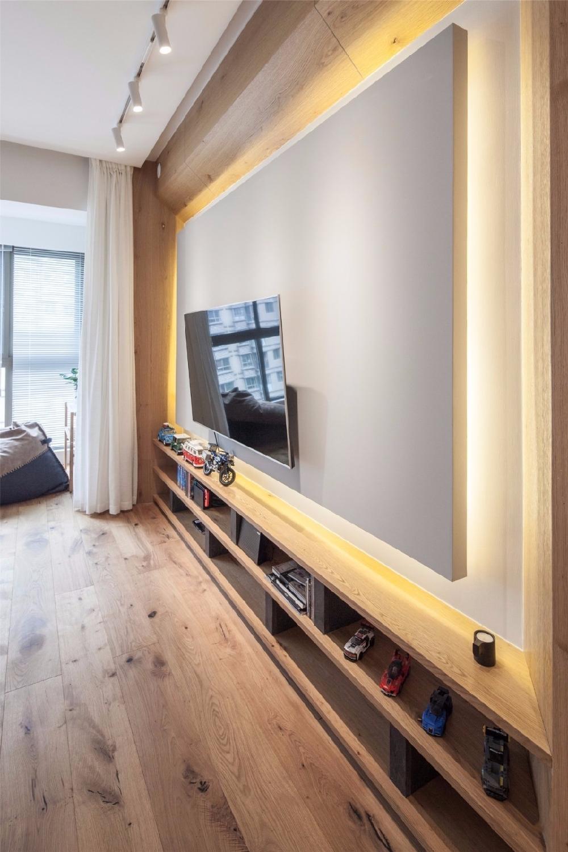 现代舒适,鞋柜+电视墙组合一起实用大气12122623