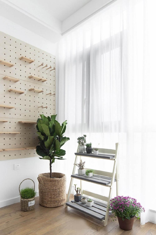 两室一厅现代简约风格给你爽朗的夏季12221853