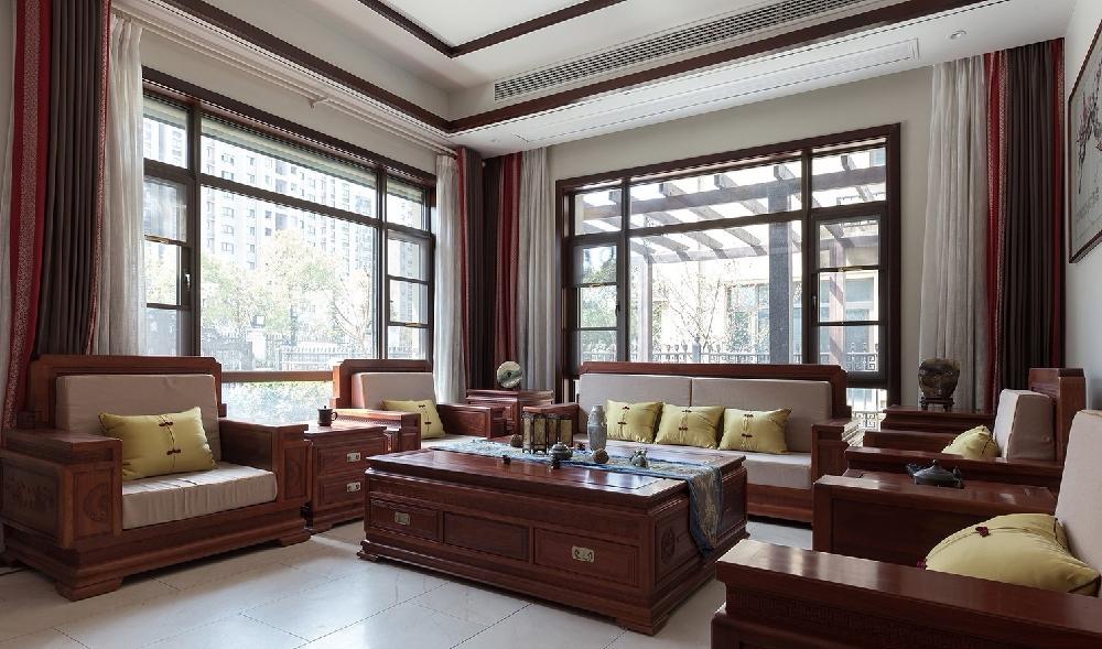 260平方中式风格设计红木家具搭配设计12234741