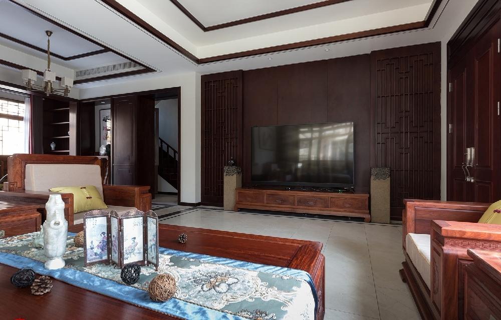 260平方中式风格设计红木家具搭配设计12234744