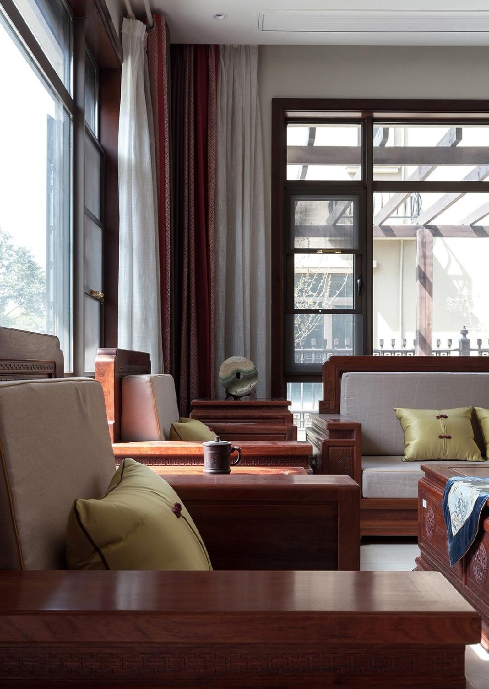 260平方中式风格设计红木家具搭配设计12234742