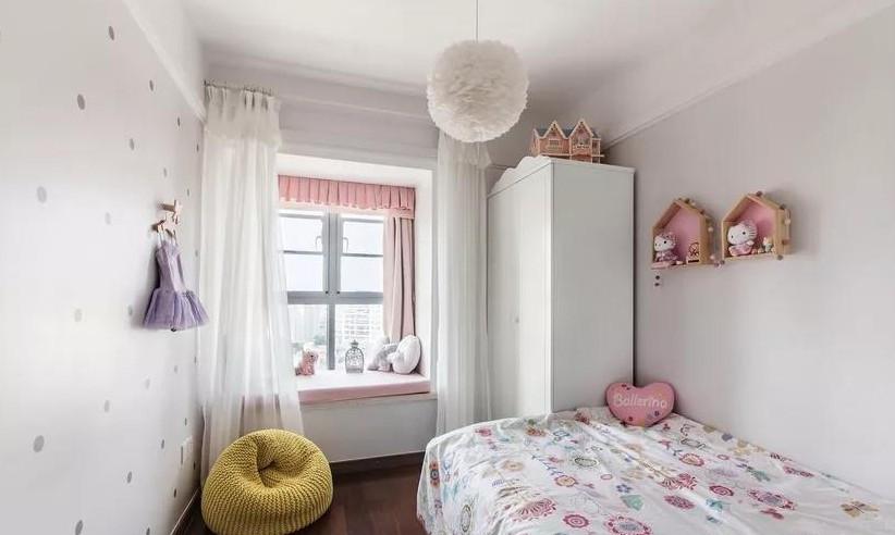 北欧混搭风三居室,卧室带个小阳台12270370