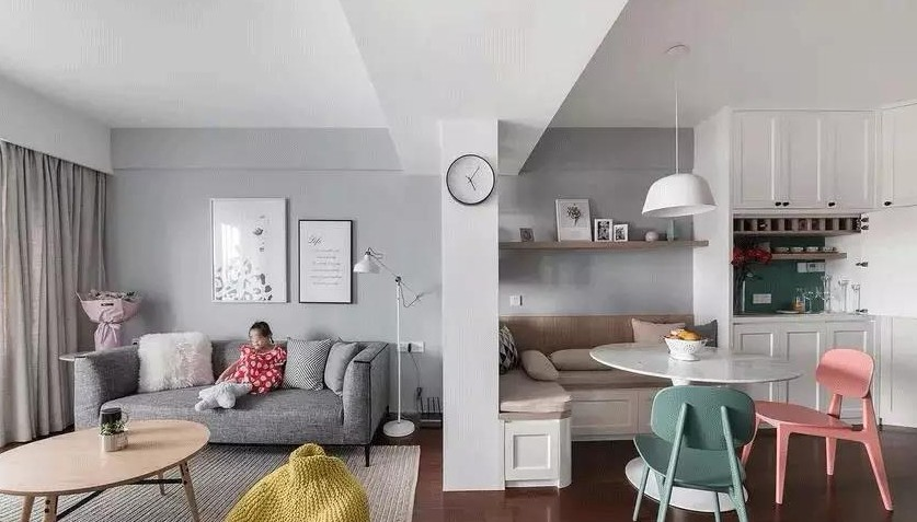 北欧混搭风三居室,卧室带个小阳台12270363