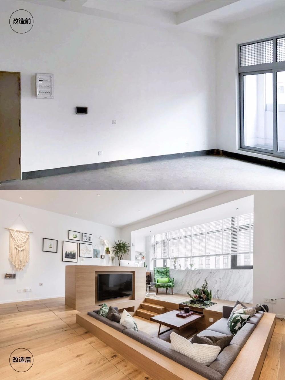 撬开地板、把卧室悬空,60㎡小家变豪宅!12416024