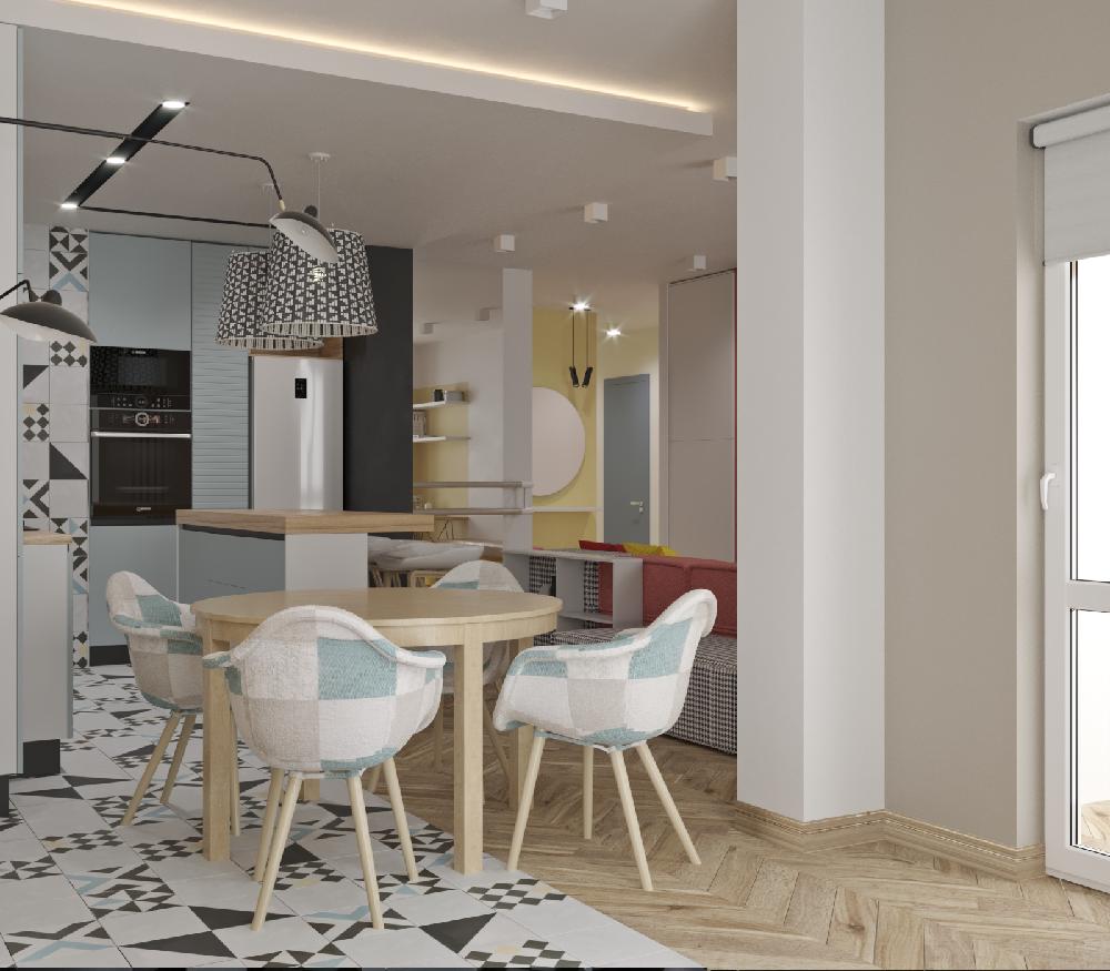 北欧风极简主义公寓 的设计12425816