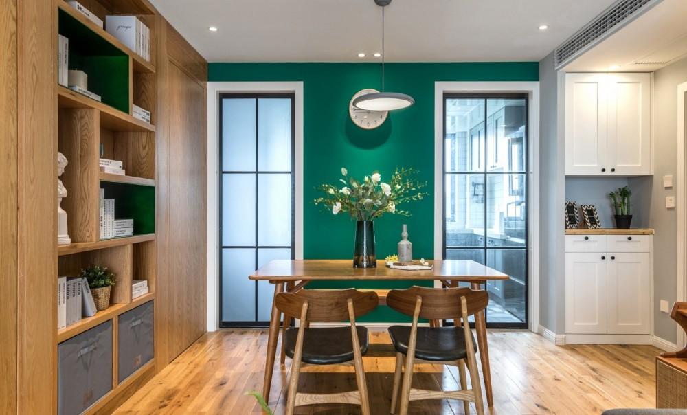 89m² | 客厅做全面墙书柜+隐形门12480171
