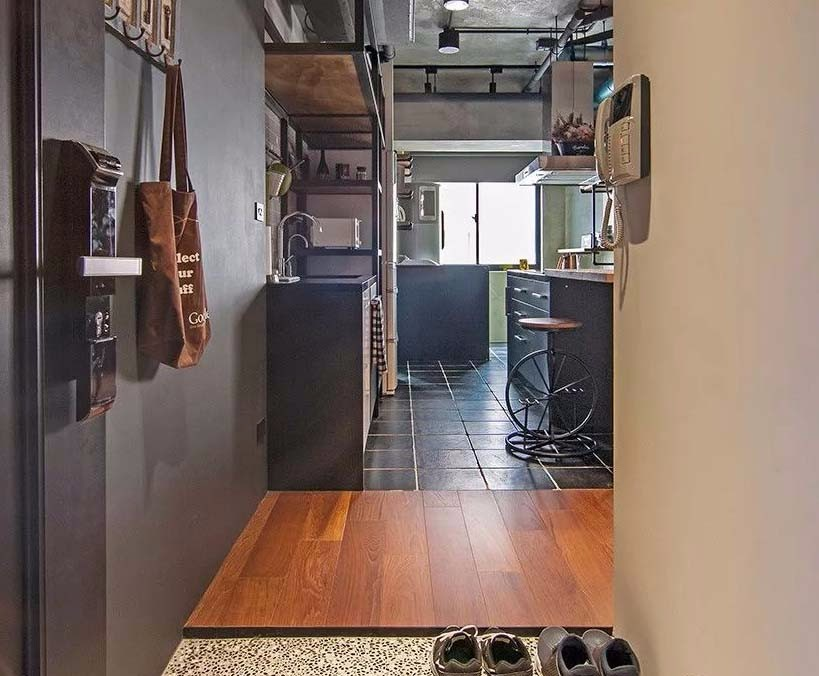 70平工業風個性三居單身公寓12542336