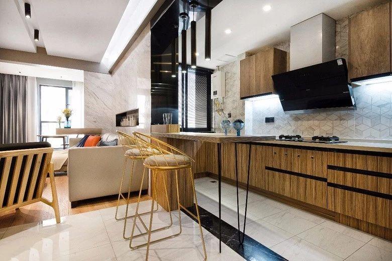 木板做电视柜,一字型厨房真上档次!12845699