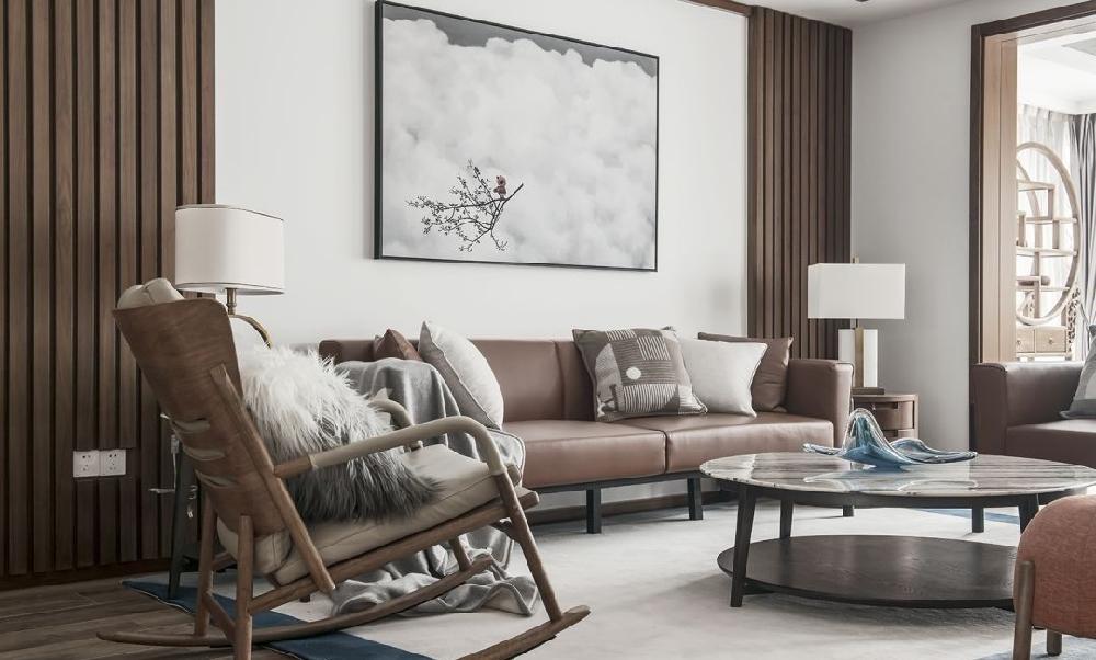 現代新中式大平層,融合東方元素與時尚感12853058