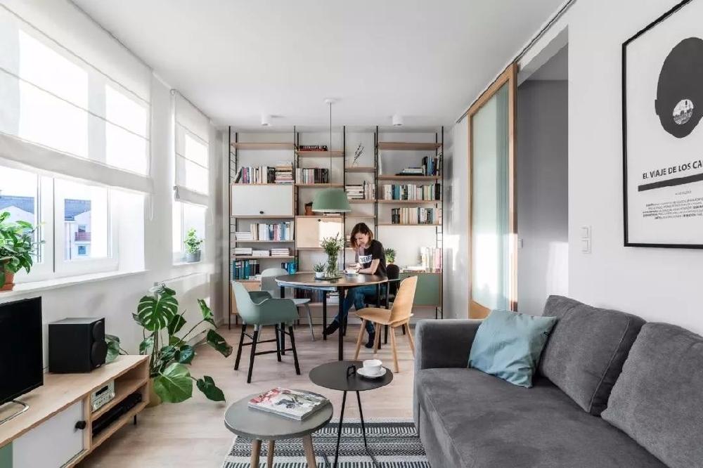 45平米+北欧风格+一居室12895740