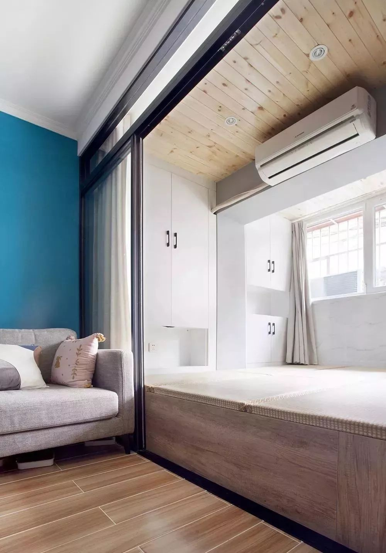 现代简约将阳台隔断成卧室实用性超强13175144