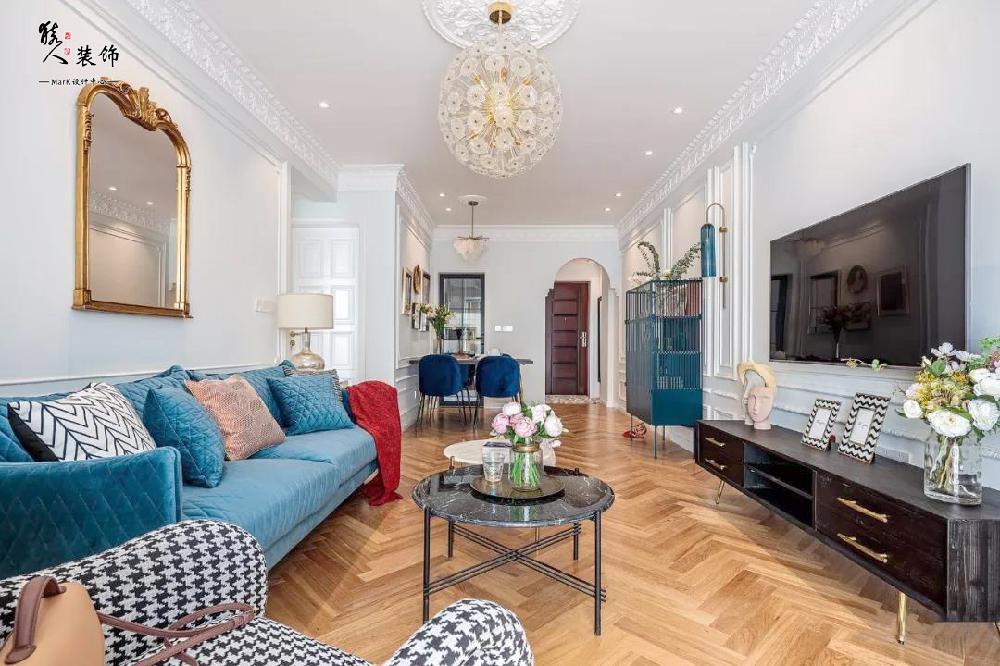 70平法式兩居,輕奢、復古、現代元素13262137