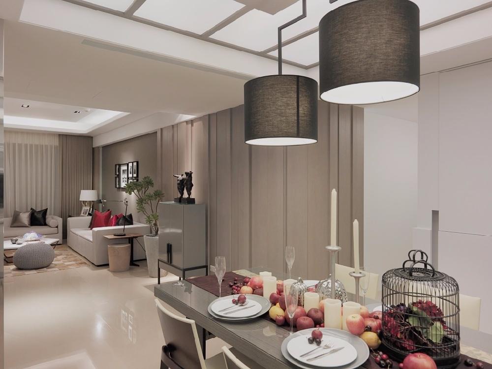 现代简约风格装修,高级灰的简约客厅背景墙13380395