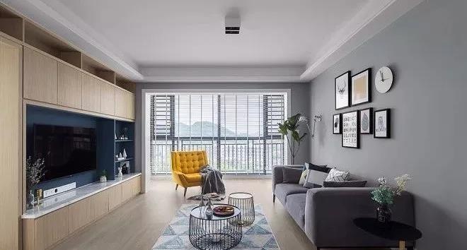 99㎡客厅和阳台不做隔断,视野开阔13634540