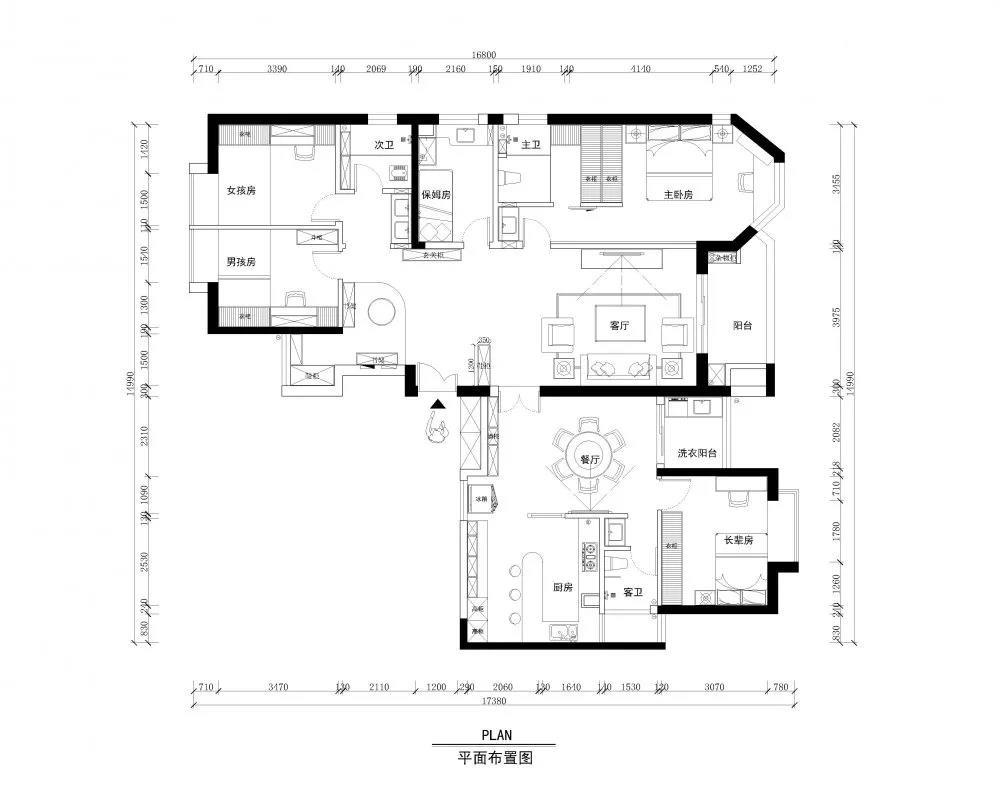 180平中式空間,兩套打通秒變大房子1436605