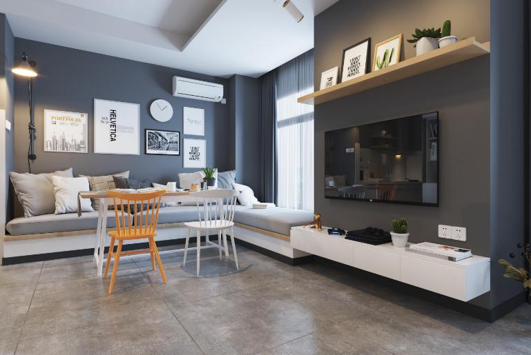50平小公寓简欧风格13867982