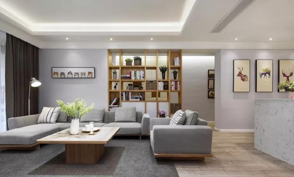 190㎡简约,收纳柜做在走廊,实用美观13896200