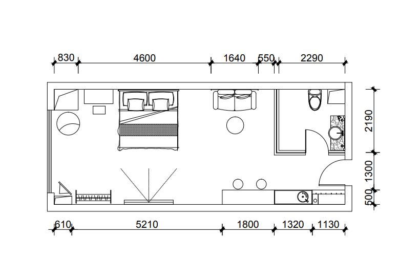 工业风潮流混搭单身公寓3.5万继续省1441801